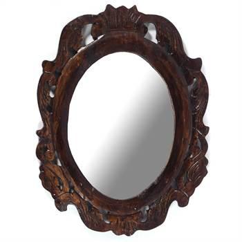 """Wall mirror """"EMPEROR""""   53x50cm (HxW), mahogany   baroque mirror"""