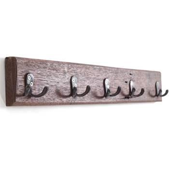 "Coat rack ""CASA"" | 60x8 cm (WxH), recycled wood | wall wardrobe"