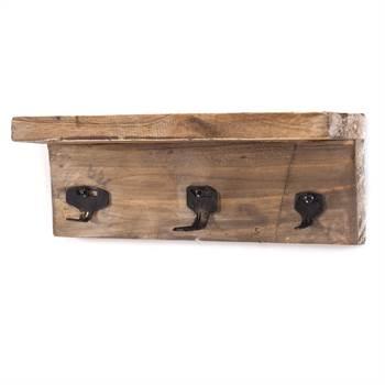 "Key hooks ""KEYS"" | 26 cm, recycled wood | hook wall rack"