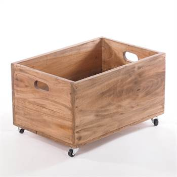"Rollable wooden chest ""BOX"" 