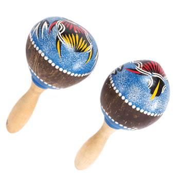 "Rumba rattle set ""MAMBO"" | wood, 21x9cm (LxØ) | maracas"