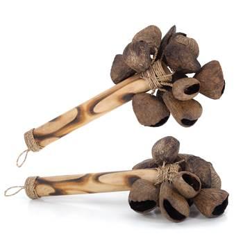 "Rumba rattle set ""CONCHAS"" | 25x13cm (HxØ) | maracas"