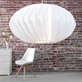 """Dekorative Hängeleuchte """"LAMPION""""   weiß, Ø 50 cm   Wohnzimmerlampe"""