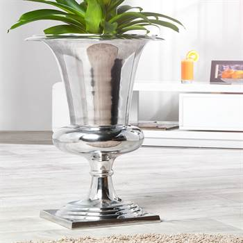 "Elegante Vase ""KELCH"" | 60x35x35 cm, Aluminium | Pflanzpokal"