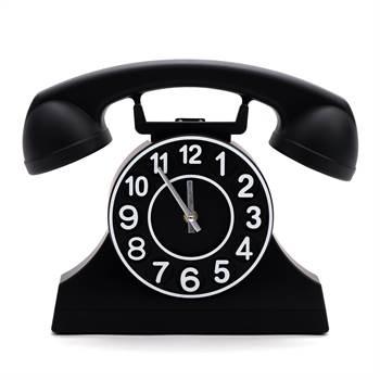 "Wanduhr ""TELEPHONE SCHWARZ"" | Kare Design 38843 | 32 cm | Uhr"