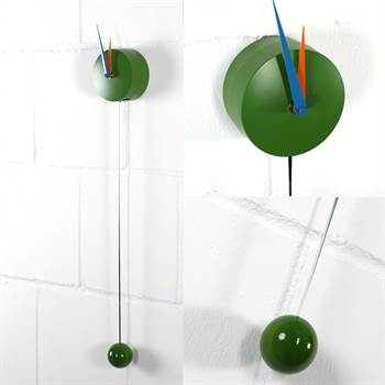 "Wall clock ""HALLIGALLI GREEN"" 