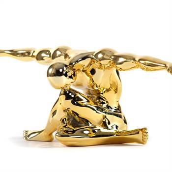 "Skulptur ""SPORTLER"" | gold, 65 cm, Kunststein | Sport Dekofigur"
