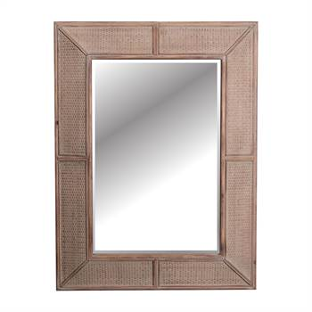 "Design Holz Spiegel ""KOLONIAL"" | 125 cm, massiv | Wandspiegel"