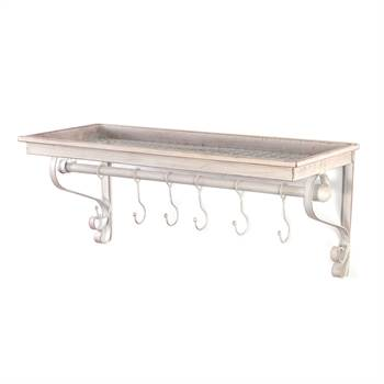 "Vintage coat rack shelf ""LILY"" 