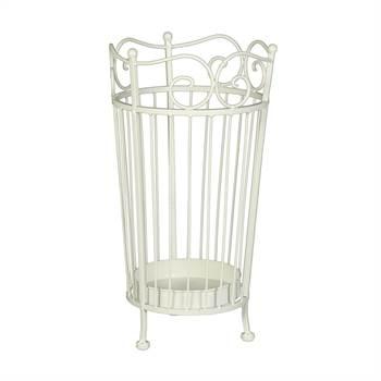 "Umbrella holder ""LUCA"" | metal, antique-white | brolly stand"