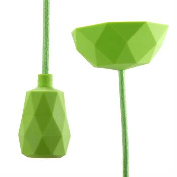 "DIY Hängelampe ""TOUCH"" | 3m Textilkabel, limette-grün | Lampe"