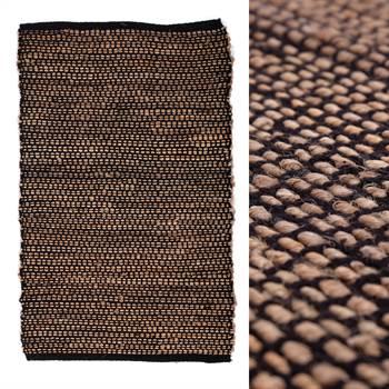 "Rag rug ""DARIA""   cotton, black, 28x55""   carpet"