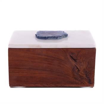 "Box ""JEWEL BIG"" | Kare Design 39650 | Holz, Marmor | Schmuckkasten"