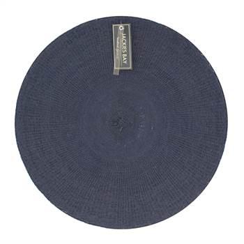 4x Platzdecke JACKIES BAY | 38 cm, blau, Bast | Platzset