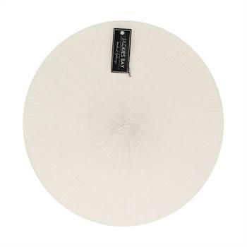 4 Platzdecken JACKIES BAY | 38 cm, Bast, weiß | Tafelset