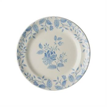 6 Teller ROYAL BOCH FLEURS BLEUES | 17,5 cm, Porzellan, weiß blau