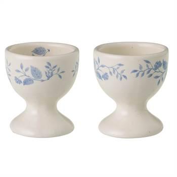 6 Eierbecher ROYAL BOCH FLEURS BLEUES | 6 cm, Porzellan, weiß blau