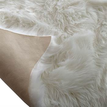 "Sheepskin rug imitation ""PECORA"" | white, app. 25""x35"" | carpet"