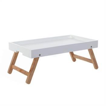 "Tray table ""MORNING GREETING"" | oak tree, white, 23.5"" | dinner tray"