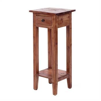 "Telefontisch ""HENRY"" | 75 cm, Mahagoni, antik braun | Beistelltisch"