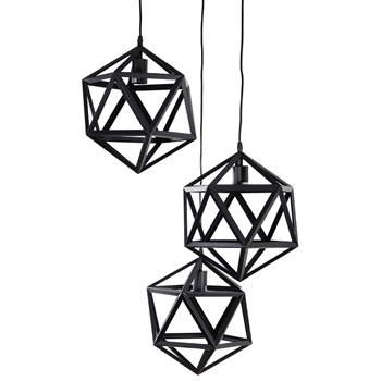 "Hängeleuchte ""INTENSO"" | 150cm, 3xE27 | Pendel Lampe"