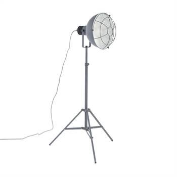 "Stehleuchte ""SIMPLICA"" | 170 cm, 1x E27, silber grau | Stehlampe"