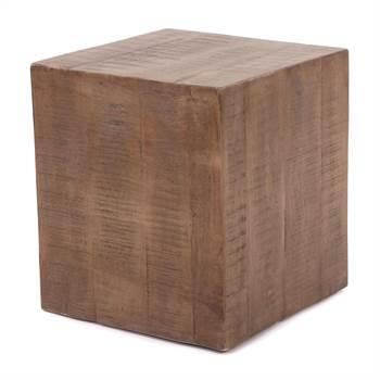 "Beistelltisch ""CUBO"" | Mangoholz massiv, 40x40x45 cm | Couchtisch"