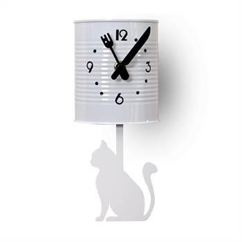 "Wanduhr ""TIN CAT"" | weiß, 12,5 cm | Kare 30546"