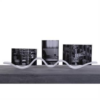 """Fotorahmen """"WELLE""""   MDF, Glas, 56 cm  Bilderrahmen für 3 Fotos"""