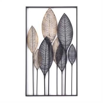 "Wand Dekoration ""PALMA"" | Metall, braun, 53x95cm | Wandbild"