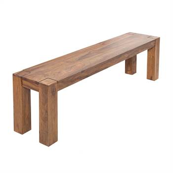"Holz Sitzbank ""BELLUNO"" | Sheesham massiv, 140 cm | Holzbank"