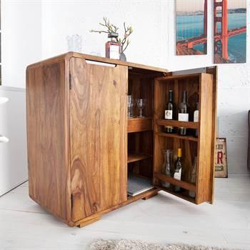 "Bar cabinet ""HAVANNA"" | 39"", Sheesham | wooden cupboard"