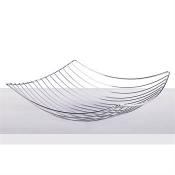 "Früchtekorb ""PLATEAU"" | 34 cm, Metall, silber | Früchtekorb"