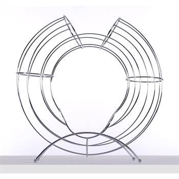"Früchtekorb ""CIRCLE"" | 48 cm, Metall, silber | Obsthalter"