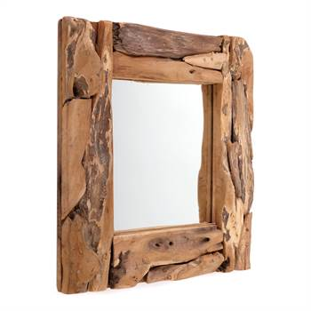 "Root wood mirror ""BEACHSIDE"" 