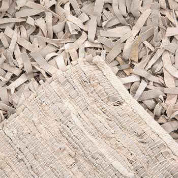 "Carpet ""LJUS"" | leather, 79""x55"", sand | rug"