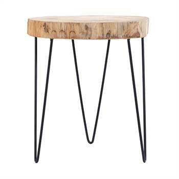 "Beistelltisch ""FYR"" | Kiefer, Metall, 40 cm, natur | Sitzhocker, Deko"