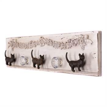 "Garderobenleiste ""PROUD CATS"" | Kare Design 82212 | Kleiderhaken"