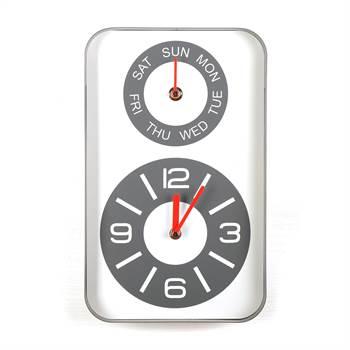 """Wanduhr """"DAYS""""   Uhr mit Tagesanzeige   Kare Design 36195"""