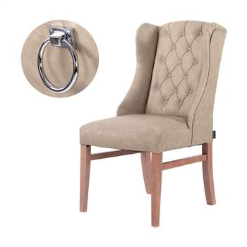 """Dining chair """"CLASSY-VINTAGE""""   artificial leather, ring   living room"""