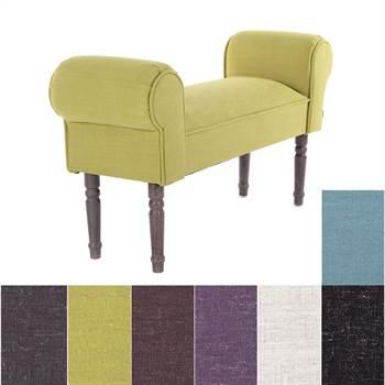 "Design seating bench ""LINELLO"" | 39.5"", upholsterd | vanity bench"