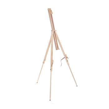 "Portable sketch easel ""PINE"" pinewood for stretched artist canvas"