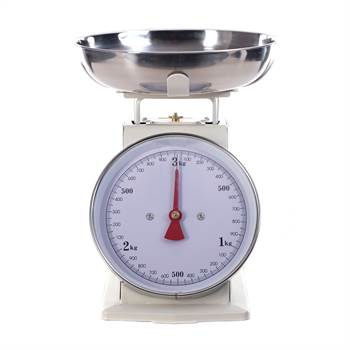 Retro design kitchen scale | white, up to 3 kg | cooking scale