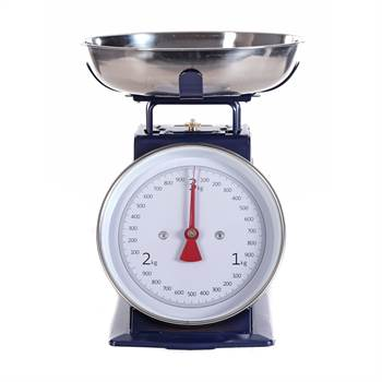 Retro design kitchen scale | blue, up to 3 kg | cooking scale