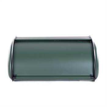 "Retro bread box ""BREAD CRUMB"" | metal, green, 13.5"" | bread bin"