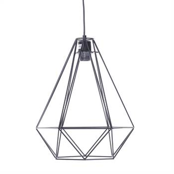 "Hanging lamp ""DIAMOND"" | metal, black | drop light"