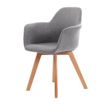 "Chair ""NORDKAP"" | armrests, grey | armchair"