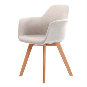 "Stuhl ""NORDKAP"" | Armlehnen, beige | Esszimmerstuhl"