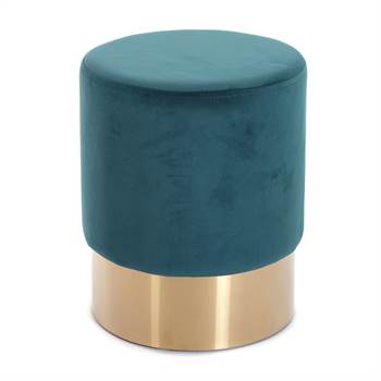 "Stool ""CHERRY TEAL BRASS"" 