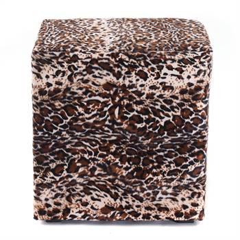 "Design seating cube ""WILDLIFE"" | 16x16x16"", faux animal skin | stool"